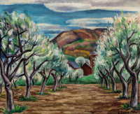 ERNEST FIENE (American, 1894-1965) Apple Orchard, 1924 Oil on canvas 18 x 22 inches (45.7 x 55.9