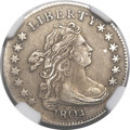 Early Dimes, 1804 10C 14 Stars Reverse, JR-2, R.5 -- Improperly Cleaned -- NGCDetails. AU....