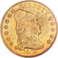 Early Quarter Eagles, 1806/4 $2 1/2 8x5 Stars AU58 NGC. BD-1, High R.4....