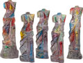 Sculpture, JIM DINE (American, b. 1935). Venus at Sunset, 1983. Carved and painted composite acrylic sculpture in five parts. 62 x ... (Total: 5 Items)