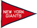 Football Collectibles:Others, 1940's New York Football Giants Flag from Polo Grounds....