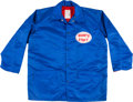 """Football Collectibles:Uniforms, 1970's Sid Moret (Equipment Manager) New York Giants Game Worn Sideline Jacket - With Rare """"Giants Staff"""" Patch...."""