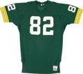 Football Collectibles:Uniforms, Early 1980's Paul Coffman Game Worn Green Bay Packers Jersey....