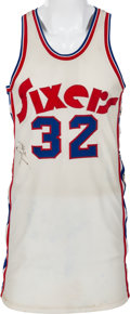 Basketball Collectibles:Uniforms, 1974-75 Billy Cunningham Game Worn Philadelphia 76ers Jersey....
