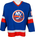 Hockey Collectibles:Uniforms, 1980-81 Bryan Trottier Game Worn New York Islanders Jersey. ...