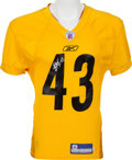 Football Collectibles:Uniforms, 2003 Troy Polamalu Practice Worn Pittsburgh Steelers Jersey. ...