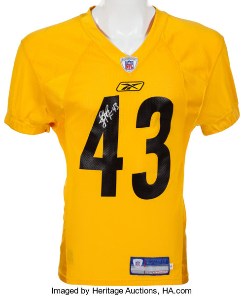 d063b583f Football Collectibles:Uniforms, 2003 Troy Polamalu Practice Worn Pittsburgh  Steelers Jersey.