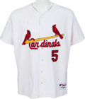 Baseball Collectibles:Uniforms, 2010 Albert Pujols Game Worn St. Louis Cardinals Jersey with PujolsLetter. ...