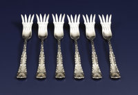 A Set of Six American Silver Fish Forks  Tiffany & Co., New York, New York Circa 1884 Silver Marks: