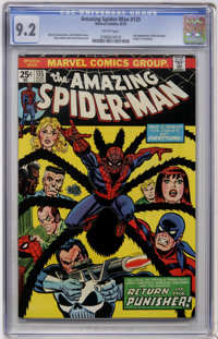 The Amazing Spider-Man #135 (Marvel, 1974) CGC NM- 9.2 White pages