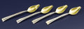 Silver & Vertu:Flatware, A Set of Four American Silver Citrus Spoons. Tiffany & Co., New York, New York. Circa 1880. Silver and silver gilt. Marks:... (Total: 4 Items)