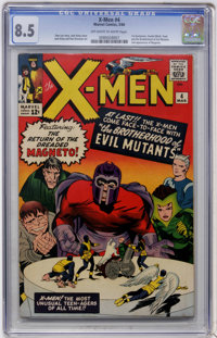 X-Men #4 (Marvel, 1964) CGC VF+ 8.5 Off-white to white pages