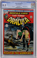 Bronze Age (1970-1979):Horror, Tomb of Dracula #1 (Marvel, 1972) CGC VF+ 8.5 Cream to off-whitepages....