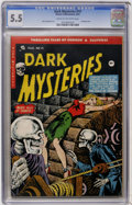 Golden Age (1938-1955):Horror, Dark Mysteries #19 (Master Publications, 1954) CGC FN- 5.5 Cream tooff-white pages....