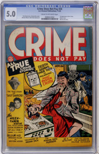 Crime Does Not Pay #24 (Lev Gleason, 1942) CGC VG/FN 5.0 Cream to off-white pages