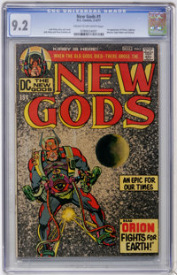 The New Gods #1 (DC, 1971) CGC NM- 9.2 Cream to off-white pages