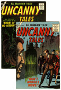 Golden Age (1938-1955):Horror, Uncanny Tales #43 and 47 Group(Atlas, 1956) Condition: AverageFN-.... (Total: 2 Comic Books)