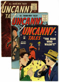 Golden Age (1938-1955):Horror, Uncanny Tales #25, 43, and 45 Group (Atlas, 1954-56) Condition:Average VG+.... (Total: 3 Comic Books)