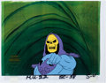 Animation Art:Production Cel, He-Man and the Masters of the Universe Skeletor ProductionCel with COA Animation Art (Filmation, 1983).... (Total: 2 OriginalArt)