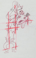 Animation Art:Production Drawing, Deputy Droopy Slim the Outlaw Production Drawing AnimationArt (MGM, 1955)....
