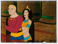 Animation Art:Production Cel, The New Adventures of Flash Gordon Flash and Dale ArdenProduction Cel With COA Animation Art (Filmation, 1979).... (Total:2 Original Art)