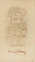 Animation Art:Production Drawing, Mickey's Surprise Party Production Drawing Animation Art(Walt Disney, 1939)....
