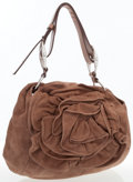 Luxury Accessories:Bags, Yves Saint Laurent Light Brown Suede Rose Bag. ...