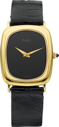 Timepieces:Wristwatch, Piaget Ref. 9251 Gent's 18k Gold Wristwatch. ...