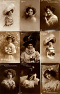 Miscellaneous:Postcards, [Postcards] Group of Twenty-Seven Postcards Depicting Women.Germany, ca. 1910. Some used. Some soiling. Generally very good...