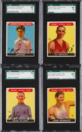 Baseball Cards:Singles (1930-1939), 1933 Sport Kings High Grade SGC Graded Quartet (4). ...