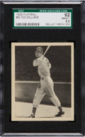 Baseball Cards:Singles (1930-1939), 1939 Play Ball Ted Williams #92 SGC 92 NM/MT+ 8.5 - None Higher....