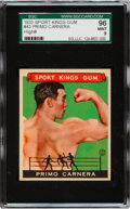 Baseball Cards:Singles (1930-1939), 1933 Sport Kings Primo Carnera #43 SGC 96 Mint 9 - The Finest SGCExample! ...