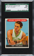 Baseball Cards:Singles (1930-1939), 1933 Sport Kings Nat Holman #3 SGC 88 NM/MT 8 - Pop Two, NoneHigher. ...