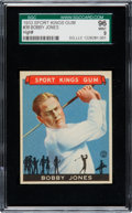 Baseball Cards:Singles (1930-1939), 1933 Sport Kings Bobby Jones #38 SGC 96 Mint 9 - Pop Two, NoneHigher! ...