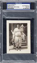 Autographs:Photos, 1935 Babe Ruth Signed Snapshot Photograph, PSA/DNA Authentic....