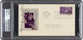 Baseball Collectibles:Others, 1939 George Sisler Signed Baseball Centennial First Day Cover. ...