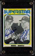 Baseball Cards:Autographs, Mickey Mantle and Roger Maris Multi Signed Card....