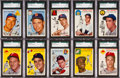 Baseball Cards:Lots, 1954 Topps Baseball Mid to High Grade Collection (591). ...