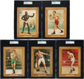 Boxing Cards:General, 1910-11 T9 Turkey Red Boxers SGC Graded Collection (5). ...