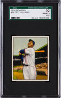 Baseball Cards:Singles (1950-1959), 1950 Bowman Ted Williams #98 SGC 92 NM/MT+ 8.5....