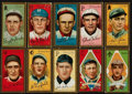 Baseball Cards:Lots, 1911 T205 Gold Borders Group (10 Different) With HoFer & ScarceSubject. ...