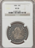 Early Half Dollars: , 1806 50C VF35 NGC. NGC Census: (72/507). PCGS Population (111/426).Mintage: 839,576. Numismedia Wsl. Price for problem fre...
