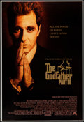 """Movie Posters:Crime, The Godfather Part III (Paramount, 1990). Embossed One Sheet (28"""" X 41""""). Crime.. ..."""