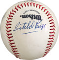 Autographs:Baseballs, 1970's Satchel Paige Single Signed Baseball....