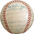 Autographs:Baseballs, 1953 National League All-Star Team Signed Baseball....