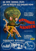 "Movie Posters:Science Fiction, Invasion of the Saucer-Men (American International, 1957). SwedishOne Sheet (27.5"" X 39.5""). Science Fiction.. ..."