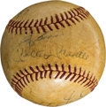 Autographs:Baseballs, Early 1960's New York Yankees Legends Signed Baseball with Mantle, Maris....