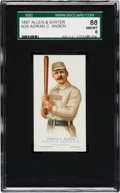 Baseball Cards:Singles (Pre-1930), 1887 N28 Allen & Ginter Cap Anson SGC 88 NM/MT 8 - None Higher!...