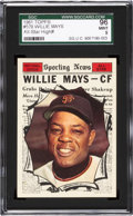 Baseball Cards:Singles (1960-1969), 1961 Topps Willie Mays All-Star #579 SGC 96 Mint 9 - Pop Three,None Higher. ...