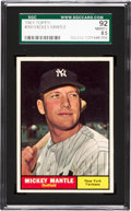 Baseball Cards:Singles (1960-1969), 1961 Topps Mickey Mantle #300 SGC 92 NM/MT+ 8.5....